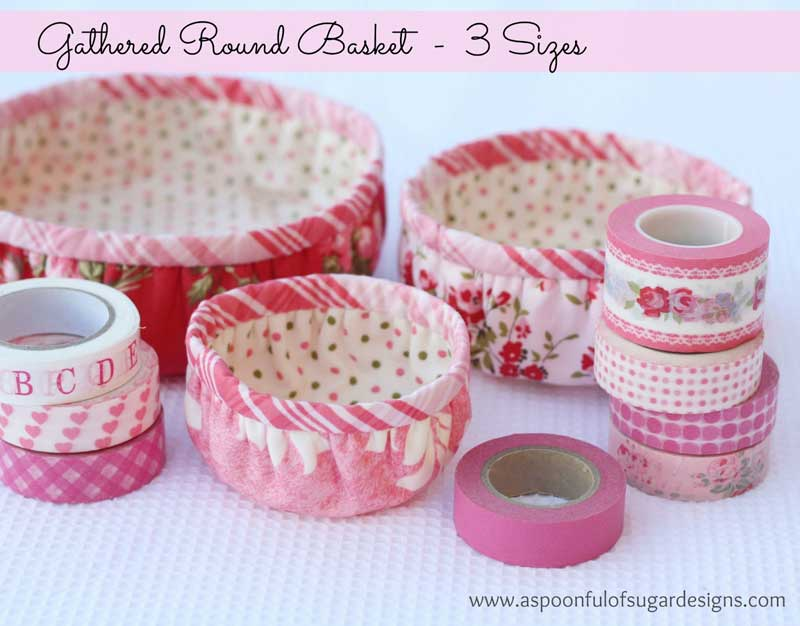 Gathered Round Baskets - Free Sewing Tutorial
