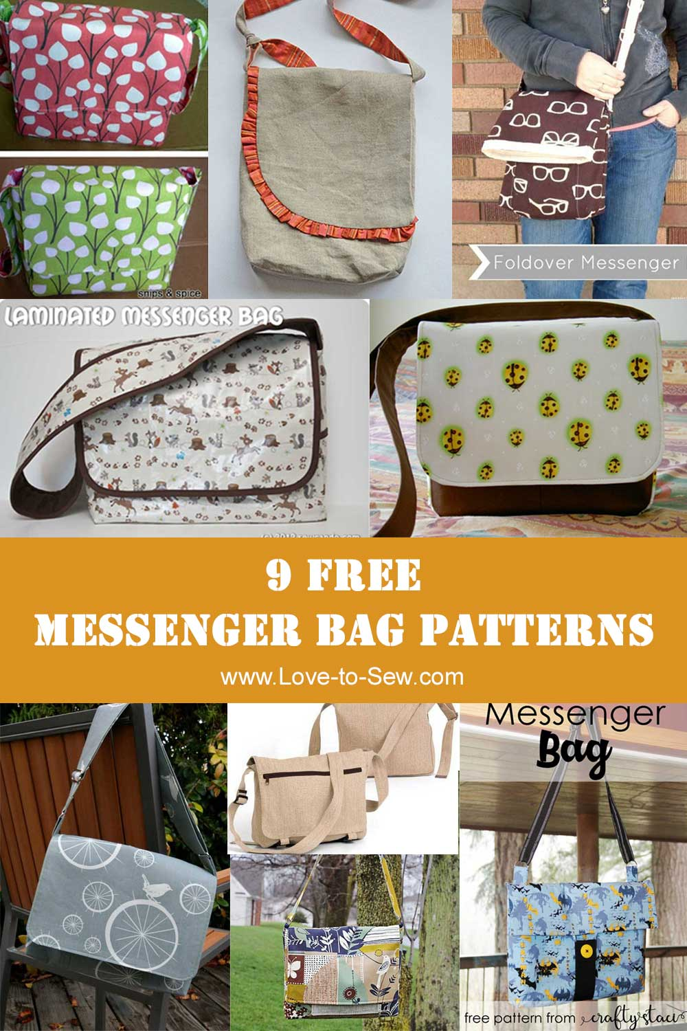 9 of the Best Free Messenger Bag Sewing Patterns