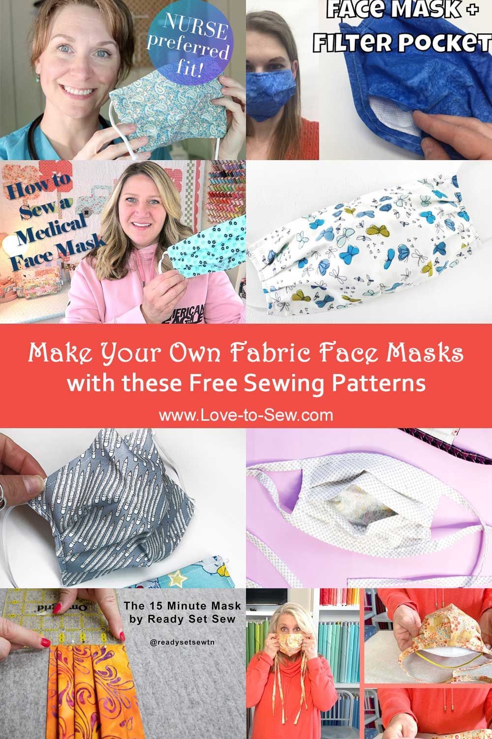 Make Your Own Fabric Face Masks with these Free Sewing Patterns