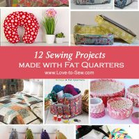 12 Fat Quarter Sewing Projects
