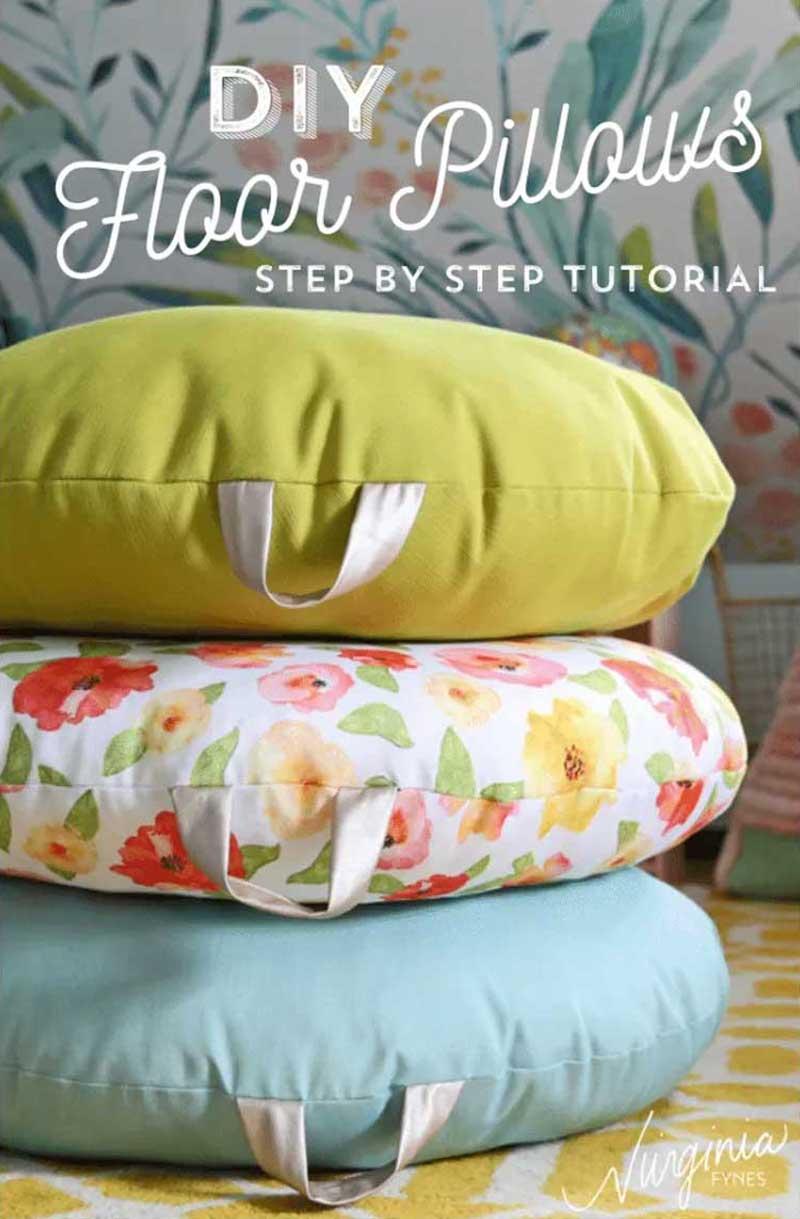 DIY Floor Pillow - Free Sewing Tutorial