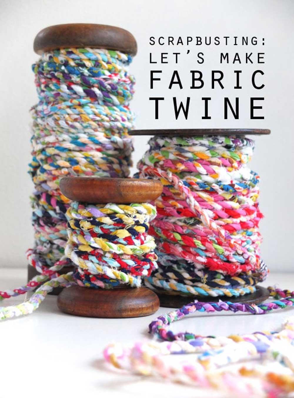How to make Fabric Twine