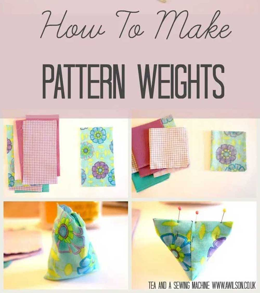How to Make Pattern Weights - a Free Sewing Tutorial