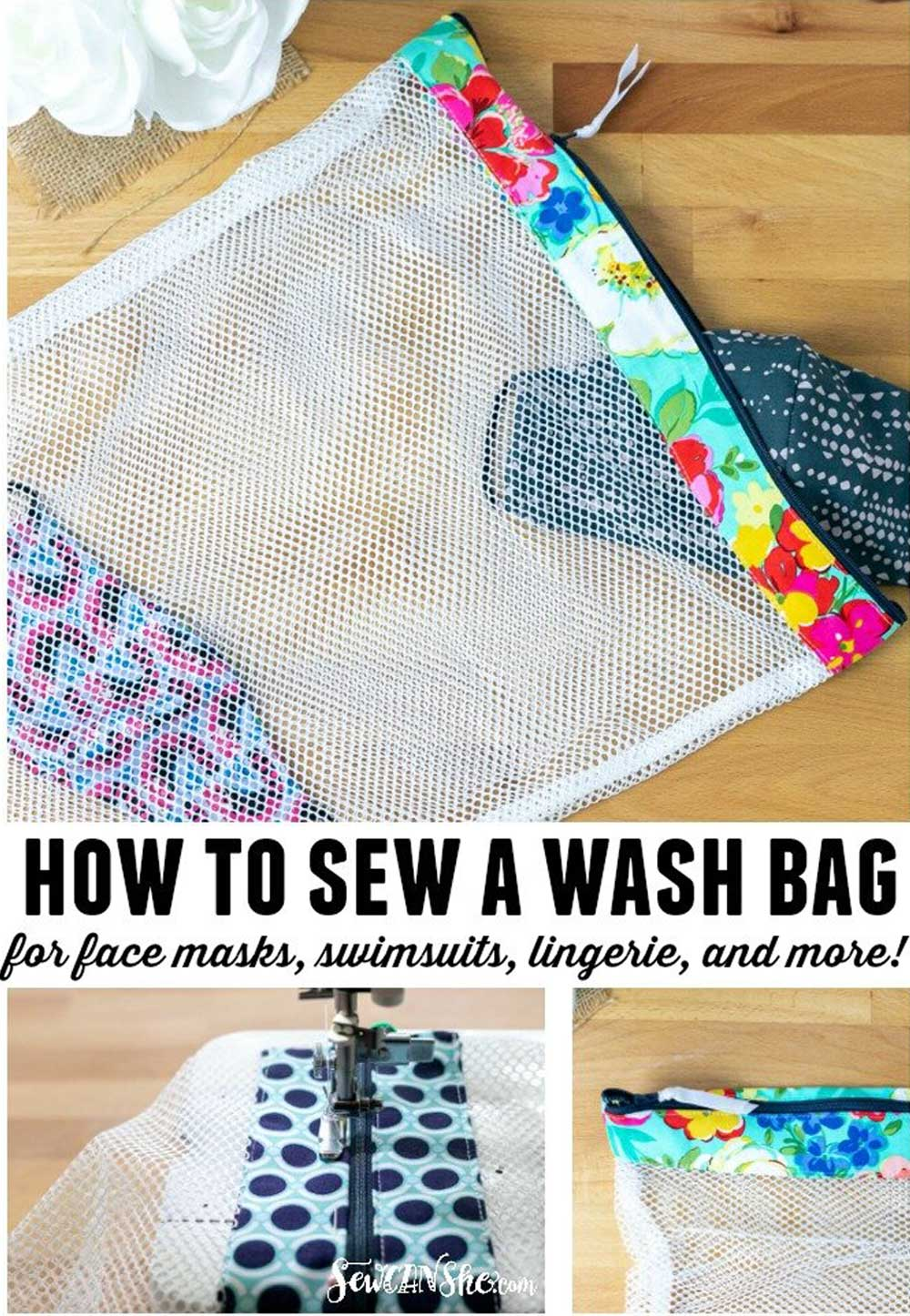 Mesh Wash Bag – Free Sewing Pattern