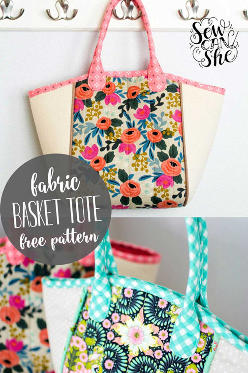 Fabric Basket-Style Tote - Free Sewing Pattern