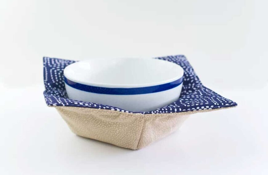 Fabric Microwave Bowl Potholders – Free Sewing Pattern